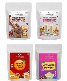 Tots and Moms Foods Drink Mixes Combo No 8 - Pack of 4 50 gm each