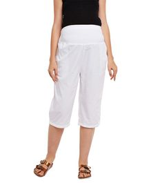 Oxolloxo Elasticated Maternity Culottes - White