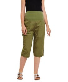 Oxolloxo Elasticated Maternity Culottes - Green