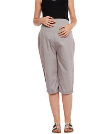 Oxolloxo Elasticated Maternity Culottes - Grey