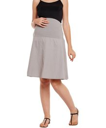 Oxolloxo Elasticated Maternity Skirt - Grey