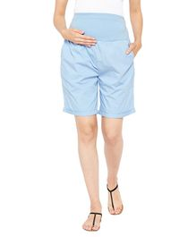 Oxolloxo Maternity Shorts - Blue