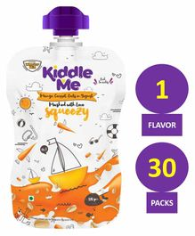 Kiddle Me Squeezy Healthy Puree Snack Mango Carrot & Oats Pack of 30 - 120 gm each
