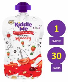 Kiddle Me Squeezy Healthy Puree Snack Strawberry Tomato & Oats Pack of 30 - 120 gm each