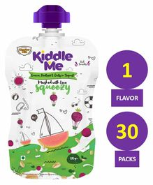 Kiddle Me Squeezy Healthy Puree Snack Guava Beetroot & Oats Pack of 30 - 120 gm each