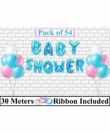 Amfin Baby Shower Balloon Decoration Set Blue- Pack of 54