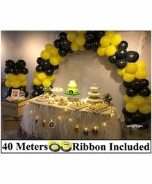 Amfin 10 Inches Latex Balloons with Ribbon - Pack of 104