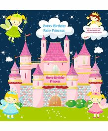 Untumble Fairy Birthday Party Backdrop 4 Feet - Pink & Multicolor