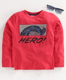 Ollypop Full Sleeves Tee Hero Print - Red