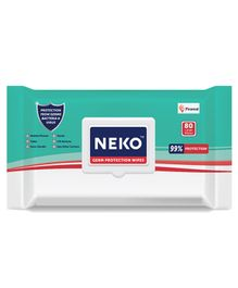 Neko Germ Protection Large Wipes - 80 Pieces
