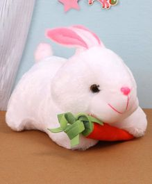 Benny & Bunny Rabbit Soft Toy with Carrot White - Length 26 cm