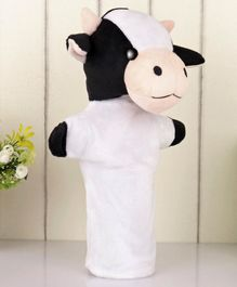 Ben & Benny Cow Hand Puppet Black White - Height 26 cm