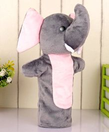 Ben & Benny Elephant Hand Puppet Grey Pink - Height 26 cm