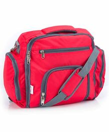 VParents Cubster  Multipurpose Diaper cum Mother Backpack with 11 Pockets - Red