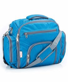VParents Cubster  Multipurpose Diaper cum Mother Backpack with 11 Pockets - Blue