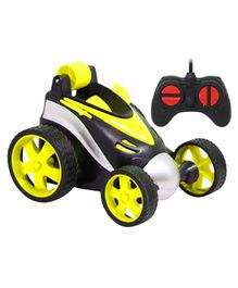 Fiddlerz 360°Rotating Rolling Electric RC Race Toy Car - Yellow