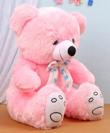 Benny & Bunny Teddy Bear Soft Toy with Polka Dot Bow Pink- Height 42 cm