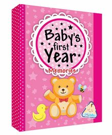 Future Books Baby's First Year Memories Pink - English