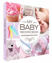 Future Books Baby Record Book Pink - English