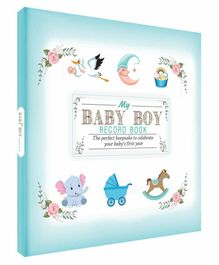 Future Books Baby Boy Record Book Blue - English