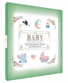 Future Books Baby Record Book Green - English
