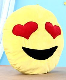 Toytales Twin Heart Emoticon Cushion - Yellow