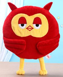 Toytales Owl Shaped Cushion - Red