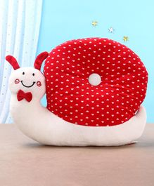 Toytales Snail Shaped Cushion Polka Dot Print - Red
