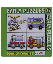 Creative's Early Puzzles Vehicles Shaped - 4 Pieces