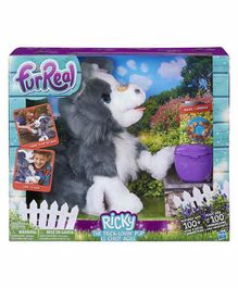 Furreal Friends Interactive Ricky Plush Puppy Toy Grey - Height 43.81 cm