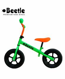 Beetle Toddler Balance Bike Neon Green - 12 Inches