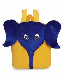 Kiddiewink Elephant Shaped Plush Nursery Bag Blur Yellow - 12 inches
