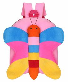 Kiddiewink Butterfly Shaped Plush Nursery Bag Pink - 12 inches