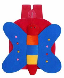 Kiddiewink Butterfly Shaped Plush Nursery Bag Red Blue - 12 inches