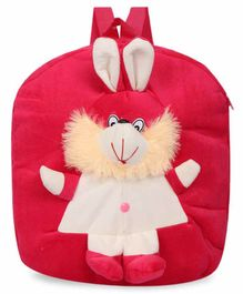 Kiddiewink Plush Nursery Bag with Bunny Motif Red - 12 inches