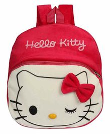Kiddiewink Kitty Embroidered Plush Nursery Bag Red - 12 inches