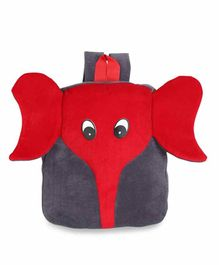 Kiddiewink Elephant Shaped Plush Nursery Bag Grey - 12 inches