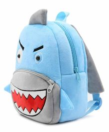 Kiddiewink Shark Shaped Plush Nursery Bag Light Blue - 12 inches
