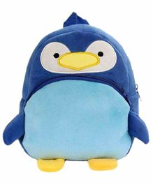 Kiddiewink Penguin Shaped Plush Nursery Bag Blue - 12 inches