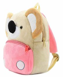Kiddiewink Teddy Shaped Plush Nursery Bag Pink Brown - 12 Inches