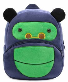 Kiddiewink Animal Shaped Plush Nursery Bag Blue Green - 12 Inches