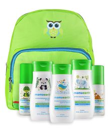 Mamaearth Baby Care Kit with Bag Pack of 5 - Green