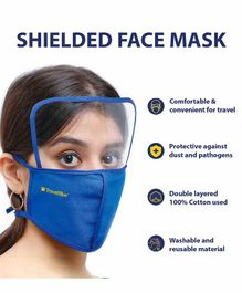 Travel Blue Shielded Face Mask - Blue