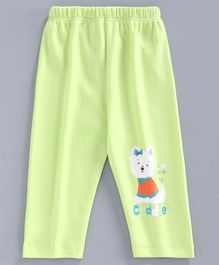Tango Full Length Lounge Pant Kitty Print - Green