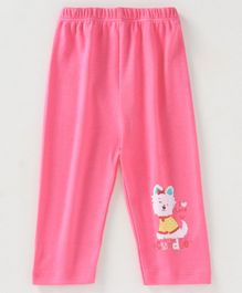 Tango Full Length Lounge Pant Kitty Print - Pink