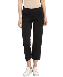 Mamacouture Solid Full Length Track Pants - Black