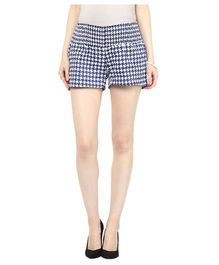 Mamacouture Houndstooth Printed Shorts - Black