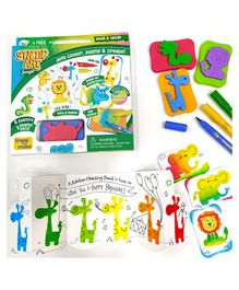 Imagi Make Stamp Art Jungle Kit - Multicolour