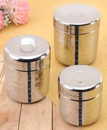 Babyhug Stainless Steel Container Pack of 3 - Silver