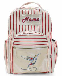 Mi Dulce An'ya Backpack Hummingbird Embroidered Red - 12.2 inches